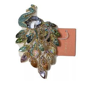 Peacock Brooch Pendant Animal Jewelry